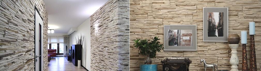 Obklady interieru imitace kamene